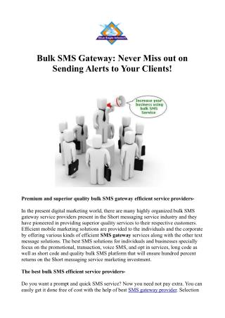 Increase Business with Bulk SMS Gateway