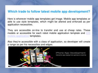 Mobile App Development - Web Animation India