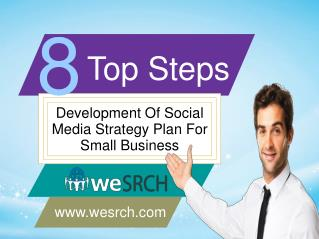 Top 8 Steps In Development Of  Social Media Strategy Plan For Small Business