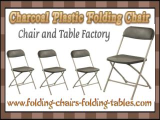 Charcoal Plastic Folding Chair - Folding Chair Larry Hoffman