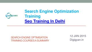 Seo Training In Delhi : Digigyan.in