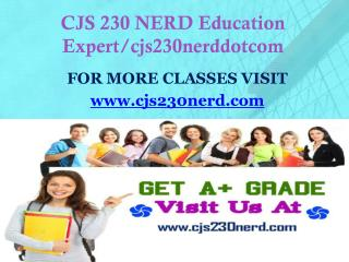 CJS 230 NERD Education Expert/cjs230nerddotcom