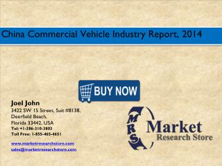 China Commercial Vehicle Market 2016: Size, Share, Trends, Growth Analysis Forecast