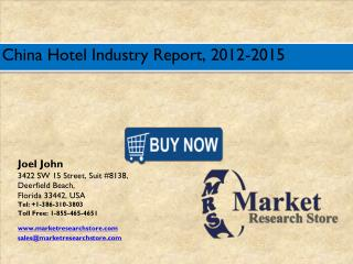 China Hotel Market 2016: Size, Share, Trends, Growth Analysis Forecast