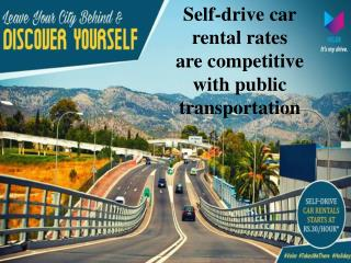 Find the best Self drive car rental rates