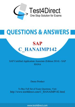 SAP C_HANAIMP142 Test - Updated Demo
