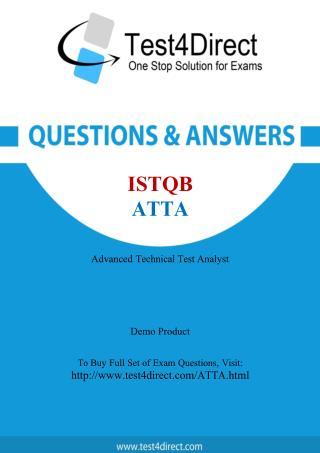 ISTQB ATTA Test Questions
