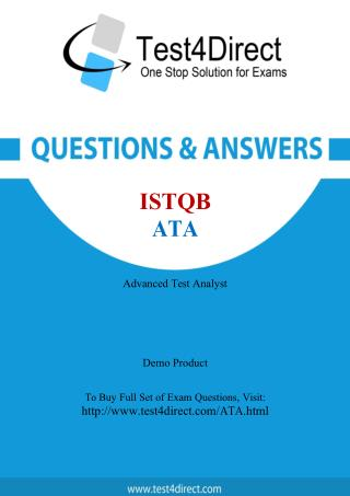ISTQB ATA Test - Updated Demo