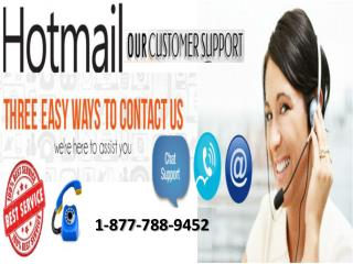 Hotmail customer service 1-877-788-9452 tollfree number for support
