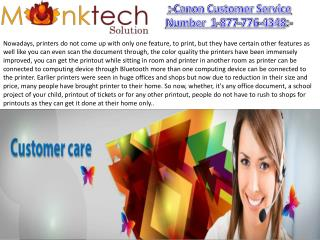 Canon Customer Service Number 1-877-776-4348 for USA and CANADA
