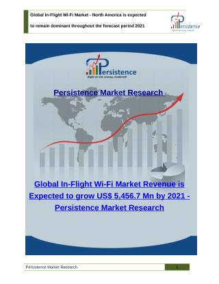 Global In-Flight Wi-Fi Market - Share, Size, Analysis and Trends to 2021