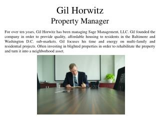 Gil Horwitz Property Manager