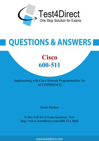 Cisco 600-511 Exam Questions
