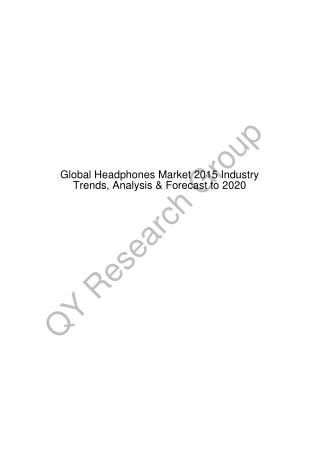 Global Headphones Market 2015 Industry Trends, Forecast