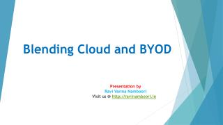 Blending Cloud and BYOD