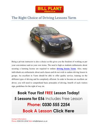Driving Lessons Yarm