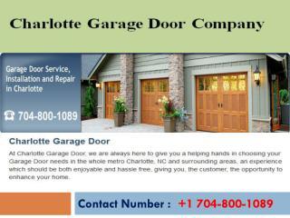 Charlotte Garage Door Company 24/7 Service