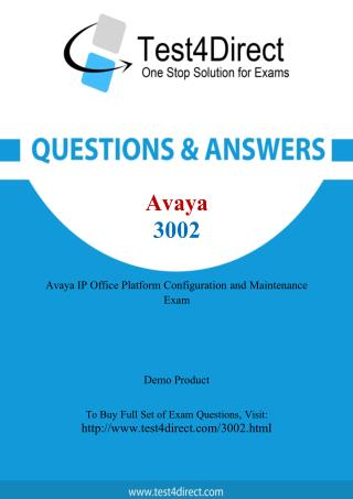 Avaya 3002 Test - Updated Demo