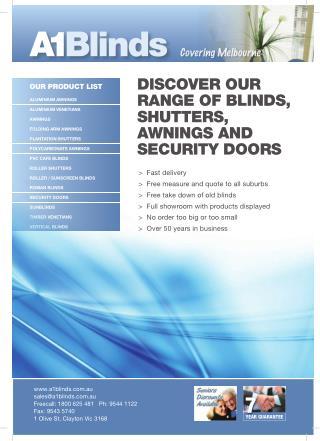 A1 blinds Melbourne - Catalogue