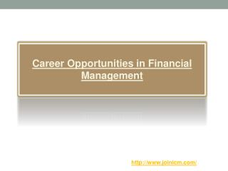 Career Opportunities in Financial Management