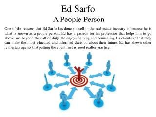 Ed Sarfo A People Person