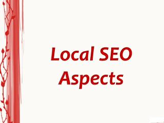 Local SEO Aspects