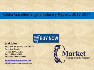 China Gasoline Engine Market 2016- Size, Share, Trends, Growth, Analysis, Forecast