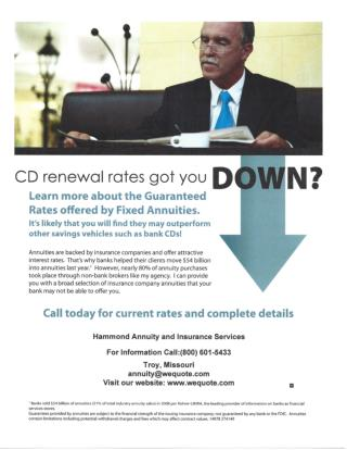 CD Renewal Rates - Hammond Insurance Services
