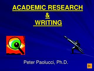ACADEMIC RESEARCH & WRITING