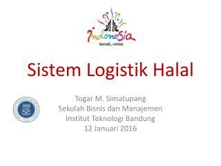 Sistem Logistik Halal