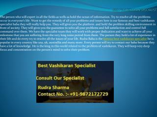 Best Vashikaran Specialist Use Unique Methods