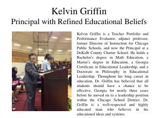 Kelvin Griffin Principal with Refined Educational Beliefs