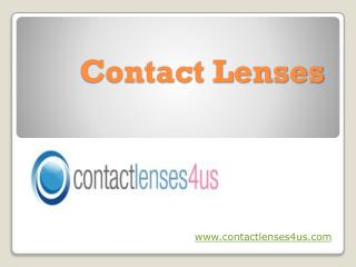 Contact Lenses without Prescription at Contactlenses4us.com