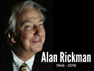 Alan Rickman: 1946 - 2016