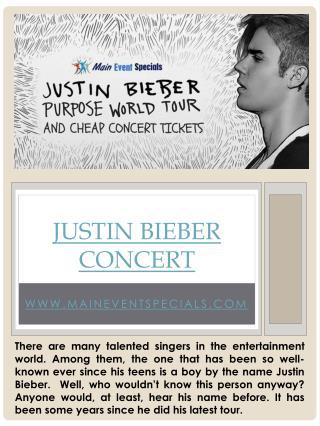 Justin Bieber Tour 2016