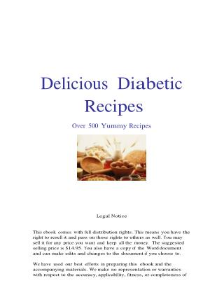 Diabetes Ebook: Delicious Diabetic Recipes