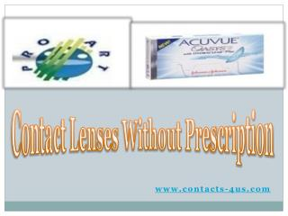 Shop online Contact Lenses without Prescriptions
