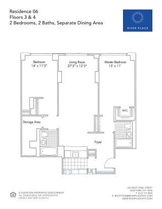 2 Bedroom NYC Apartment - Residence 06 Floor 03-04