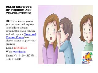 Travel and Tourism Course offered Best Option for Job | Ditts