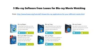 5 blu ray software from leawo for blu-ray movie watching