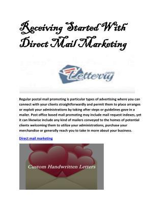 Handwritten direct mail