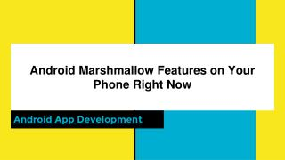 Android Marshmallow features on your phone right now