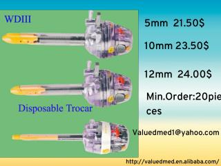Laparoscopic disposable trocars supplier from China