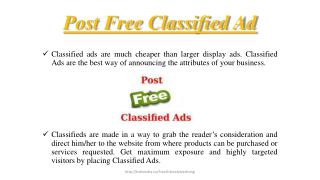 Post free classified ad