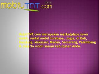 MobilTNT - Largest Car Rental Marketplace in Indonesia