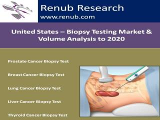 Biopsy Testing Market & Volume Analysis to 2020 - United States