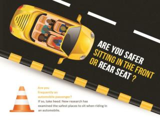 Are you safer sitting in the front or rear seat?