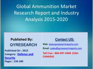 Global Ammunition Market 2015 Industry Applications, Study, Development, Growth, Outlook, Insights and Overview