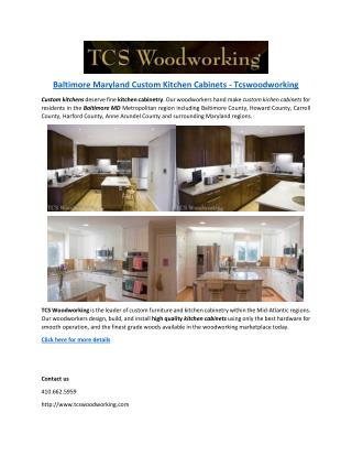 Baltimore Maryland Custom Kitchen Cabinets - Tcswoodworking