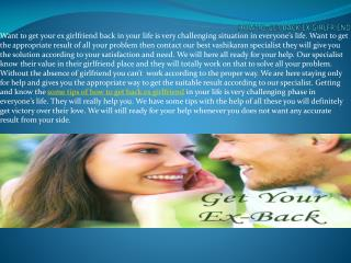 Some Easy Steps How To Get Back Ex Girlfriend